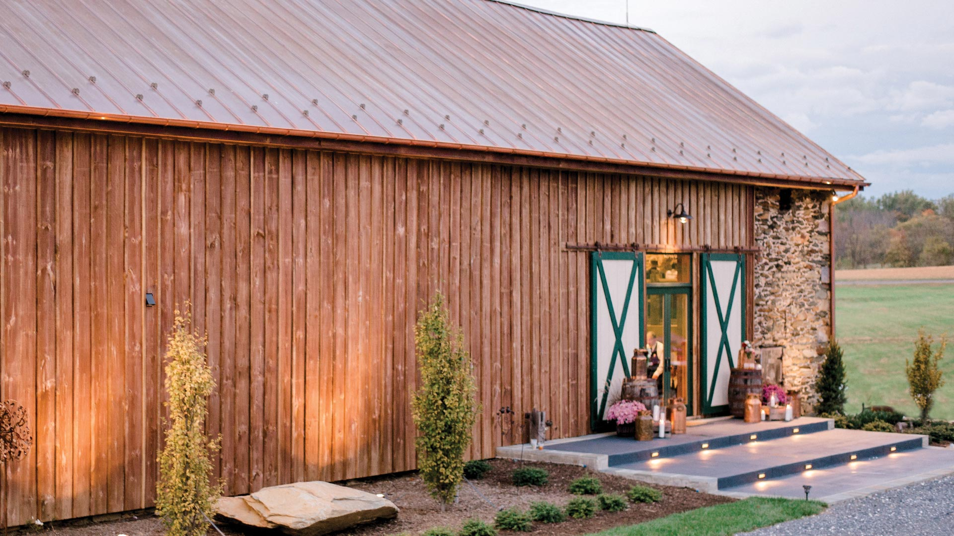 Front of the Barn venue.